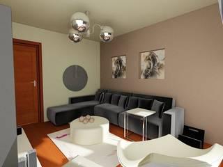 SERPİCİ's Mimarlık ve İç Mimarlık Architecture and INTERIOR DESIGN Living roomLighting Aluminium/Seng Grey