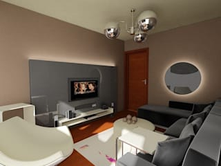 SERPİCİ's Mimarlık ve İç Mimarlık Architecture and INTERIOR DESIGN Living roomSofas & armchairs Kulit White