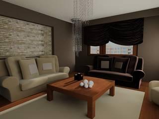 SERPİCİ's Mimarlık ve İç Mimarlık Architecture and INTERIOR DESIGN Dining roomAccessories & decoration Tekstil Brown