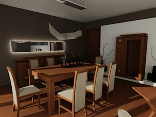 SERPİCİ's Mimarlık ve İç Mimarlık Architecture and INTERIOR DESIGN Sala da pranzoTavoli Legno Effetto legno