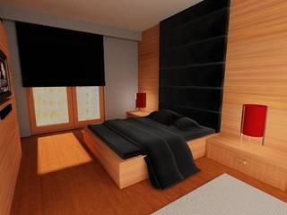 SERPİCİ's Mimarlık ve İç Mimarlık Architecture and INTERIOR DESIGN BedroomAccessories & decoration Komposit Kayu-Plastik Brown