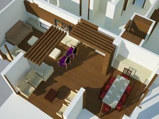 SERPİCİ's Mimarlık ve İç Mimarlık Architecture and INTERIOR DESIGN Ruang Keluarga Minimalis Kayu Wood effect