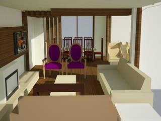 SERPİCİ's Mimarlık ve İç Mimarlık Architecture and INTERIOR DESIGN Soggiorno minimalista Legno composito Variopinto
