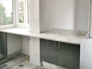 Decor-in, Lda Small kitchens Marble Grey