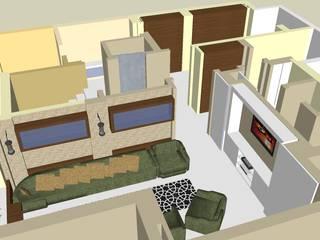 SERPİCİ's Mimarlık ve İç Mimarlık Architecture and INTERIOR DESIGN Sala da pranzo minimalista PVC Variopinto