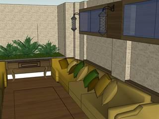 SERPİCİ's Mimarlık ve İç Mimarlık Architecture and INTERIOR DESIGN Sala da pranzo minimalista PVC Giallo