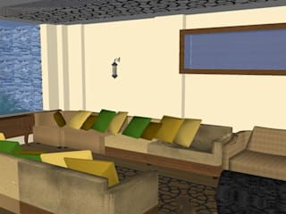 SERPİCİ's Mimarlık ve İç Mimarlık Architecture and INTERIOR DESIGN Soggiorno minimalista PVC Variopinto