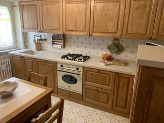cucina in arte povera di il falegname di Diego Storani Rustico