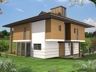 SERPİCİ's Mimarlık ve İç Mimarlık Architecture and INTERIOR DESIGN Casa unifamiliare PVC Effetto legno