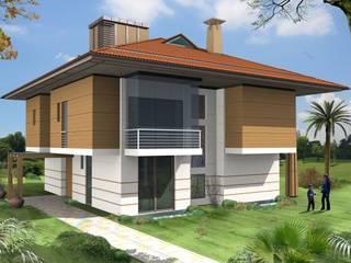 SERPİCİ's Mimarlık ve İç Mimarlık Architecture and INTERIOR DESIGN Rumah tinggal Komposit Kayu-Plastik Wood effect