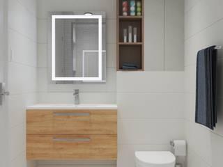 Clean, modern shower room Baños de estilo moderno de VARNODESIGN Moderno