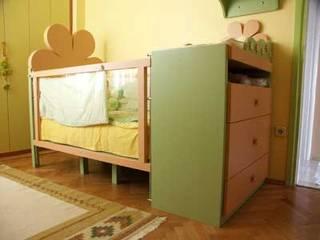 SERPİCİ's Mimarlık ve İç Mimarlık Architecture and INTERIOR DESIGN Nursery/kid's roomBeds & cribs Komposit Kayu-Plastik Green