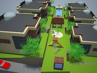SERPİCİ's Mimarlık ve İç Mimarlık Architecture and INTERIOR DESIGN Chalet PVC Effetto legno