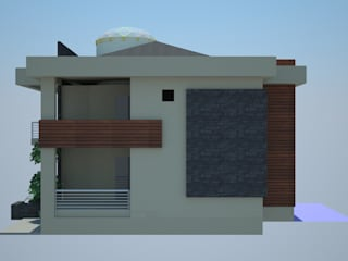 SERPİCİ's Mimarlık ve İç Mimarlık Architecture and INTERIOR DESIGN Rumah Modern Komposit Kayu-Plastik Wood effect