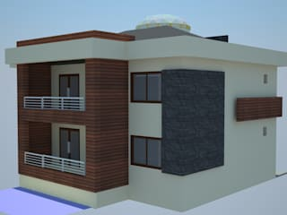 SERPİCİ's Mimarlık ve İç Mimarlık Architecture and INTERIOR DESIGN Rumah pasif Komposit Kayu-Plastik Wood effect
