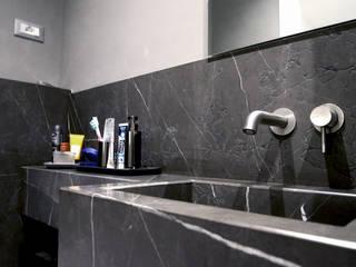 Un appartamento di 90 mq a Piazza Bologna Roma Bagno moderno di BB1 LABORATORIO DI ARCHITETTURA & DESIGN Moderno
