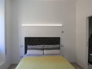 Un appartamento di 90 mq a Piazza Bologna Roma Camera da letto minimalista di BB1 LABORATORIO DI ARCHITETTURA & DESIGN Minimalista