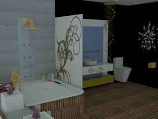 SERPİCİ's Mimarlık ve İç Mimarlık Architecture and INTERIOR DESIGN Bagno in stile classico PVC Effetto legno