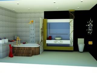 SERPİCİ's Mimarlık ve İç Mimarlık Architecture and INTERIOR DESIGN Bagno in stile classico Marmo Variopinto