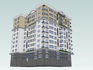 SERPİCİ's Mimarlık ve İç Mimarlık Architecture and INTERIOR DESIGN Rumah keluarga besar Komposit Kayu-Plastik Wood effect