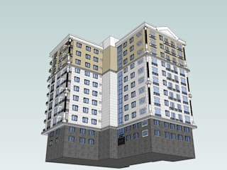 SERPİCİ's Mimarlık ve İç Mimarlık Architecture and INTERIOR DESIGN Rumah keluarga besar Komposit Kayu-Plastik Brown