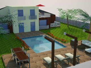 SERPİCİ's Mimarlık ve İç Mimarlık Architecture and INTERIOR DESIGN Rumah Modern Komposit Kayu-Plastik Multicolored