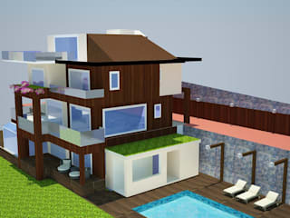 SERPİCİ's Mimarlık ve İç Mimarlık Architecture and INTERIOR DESIGN Villa PVC Marrone