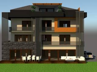SERPİCİ's Mimarlık ve İç Mimarlık Architecture and INTERIOR DESIGN Villa Komposit Kayu-Plastik Brown