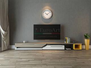 THIẾT KẾ PHÒNG KHÁCH: hiện đại  by Công ty nội thất Euro Art, Hiện đại