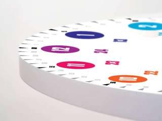 Echte Lernuhren mit System hatgirlDESIGN KinderzimmerAccessoires und Dekoration MDF Weiß