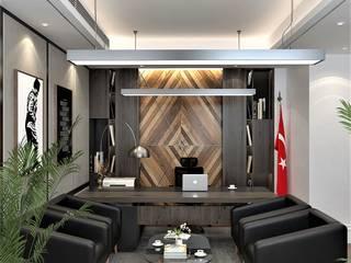 ofis tasarımı DESİGN MİMARLIK Balkon Ahşap-Plastik Kompozit Altın Sarısı