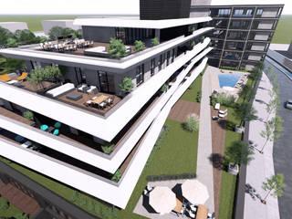 Güllük Mahallesi Kentsel Dönüşüm Projesi, Bursa Modern Balkon, Veranda & Teras CM² Mimarlık ve Tasarım Stüdyosu Modern