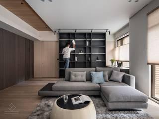 Phòng học/văn phòng phong cách hiện đại bởi 極簡室內設計 Simple Design Studio Hiện đại