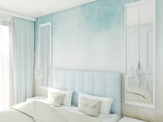 Nadmorski apartament Anna Freier Architektura Wnętrz Małe sypialnie