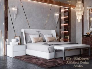 Дизайн-проект пентхауса в Москве Спальня в стиле модерн от ED - Architect & design STUDIO Модерн