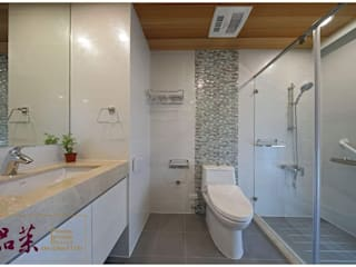 【品茉設計: 衛浴的安全與美觀同等重要】 根據 品茉空間設計/夏川設計 日式風、東方風