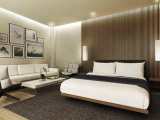 Hotel Facility Holy Angel University Gadi III + Architects Asian style bedroom