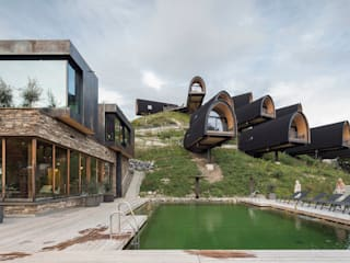 HAMMERER Architekten GmbH/SIA Wooden houses Wood Black