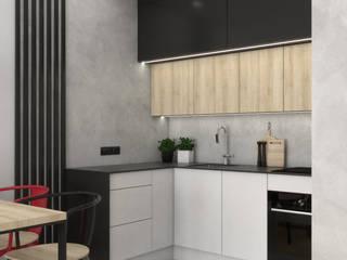 Industrialne mieszkanie dla singla od VINSO Projektowanie Wnętrz Industrialny