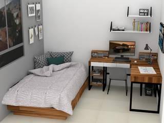 Industrial style bedroom by Decó ambientes a la medida Industrial