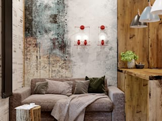 Salas de estar industriais por Interior designers Pavel and Svetlana Alekseeva Industrial