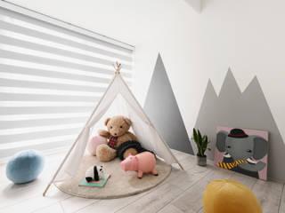 Skandinavische Kinderzimmer von 寓子設計 Skandinavisch