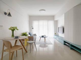 Skandinavische Wohnzimmer von 寓子設計 Skandinavisch