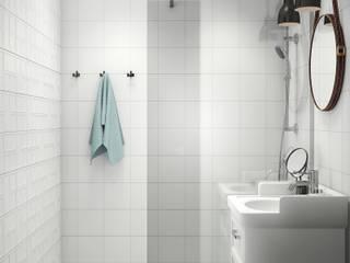 Дизайн ванной комнаты и санузла Ванная комната в скандинавском стиле от Дизайн-студия 'Идеальное решение' Скандинавский