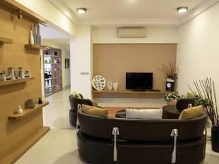 MZ Residence MZH Design Modern style media rooms