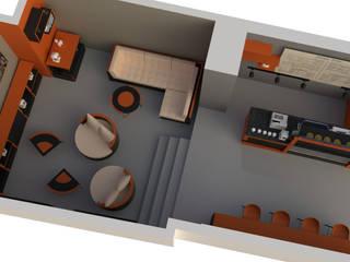 RNart mimarlık – Smart Cafe: modern tarz , Modern