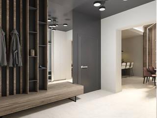 Современный дом Коридор, прихожая и лестница в стиле минимализм от MAKI-design Минимализм