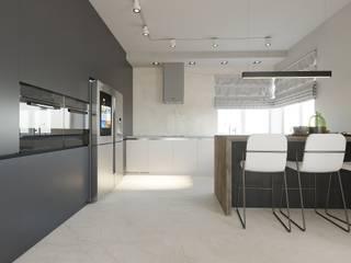 Современный дом Кухня в стиле минимализм от MAKI-design Минимализм