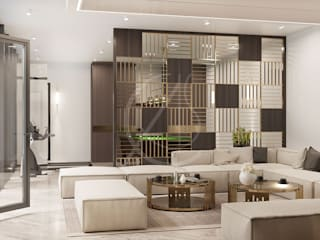 Simple Modern Villa Interior Design Modern living room by Comelite Architecture, Structure and Interior Design Modern