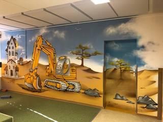 Escuelas de estilo moderno de Wandgestaltung Graffiti Airbrush von Appolloart Moderno